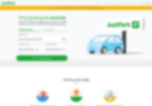 Parking Website Homepage Case Study